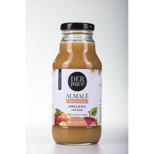 Gyümölcslé, Dér Juice Almalé Őszibarackkal 100% 0,33l