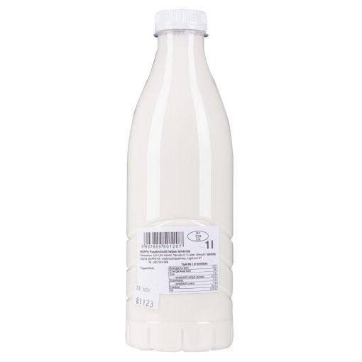Házi tej műanyag palackban 1l